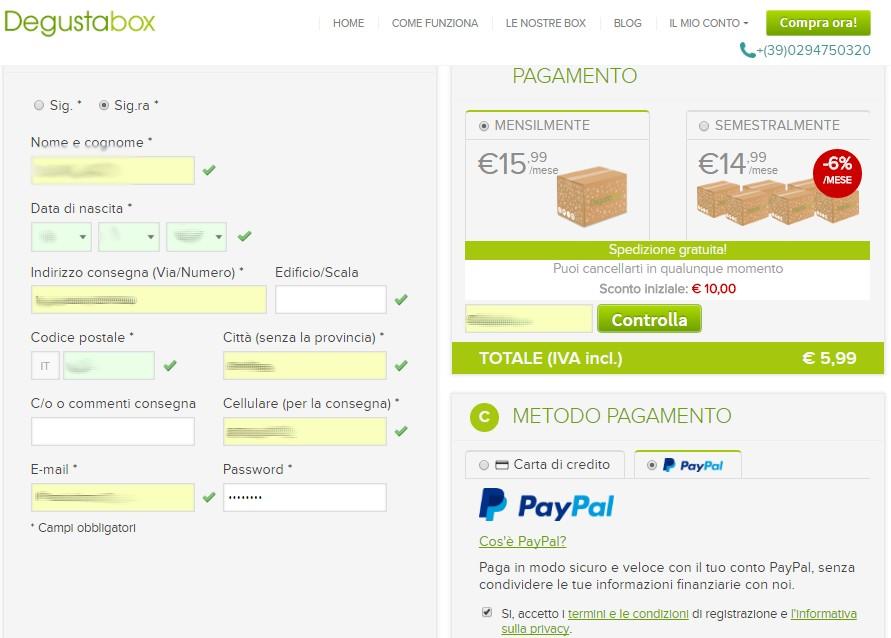 degustabox italia opinioni